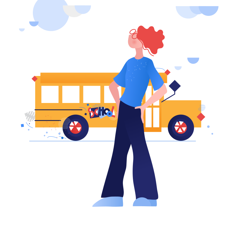 Near the school Clipart illustration in PNG, SVG