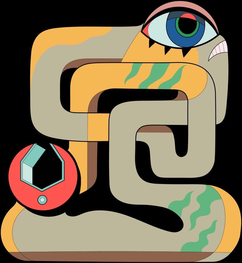 Ilustración de clipart de En construcción criatura en PNG, SVG