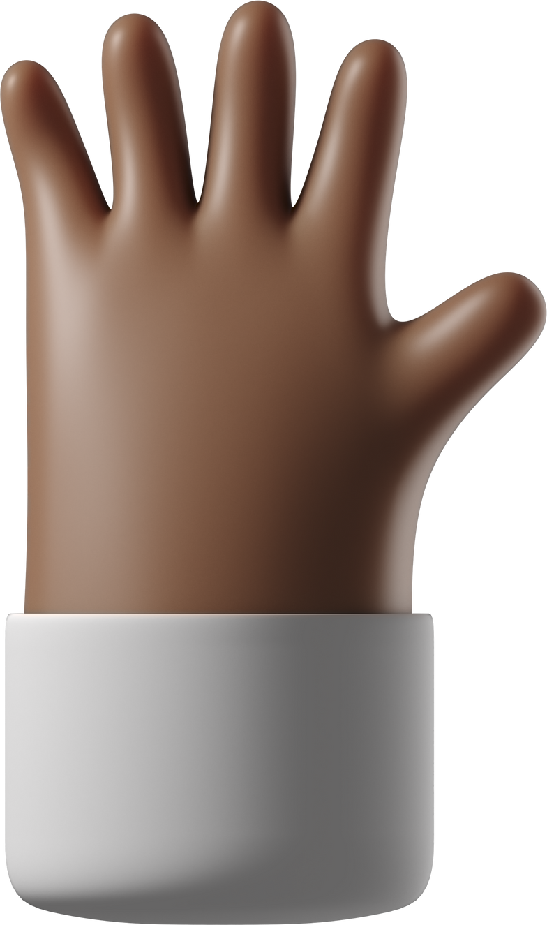 hand with fingers splayed Clipart illustration in PNG, SVG