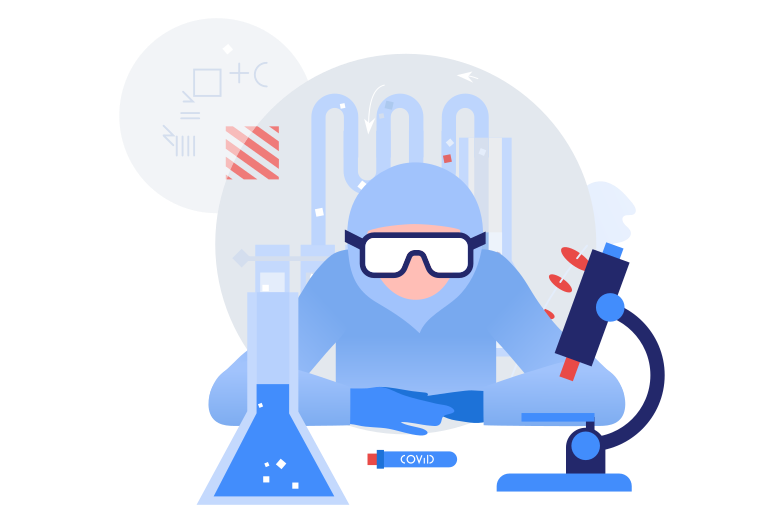 style Scientist developing vaccine Vector images in PNG and SVG | Icons8 Illustrations