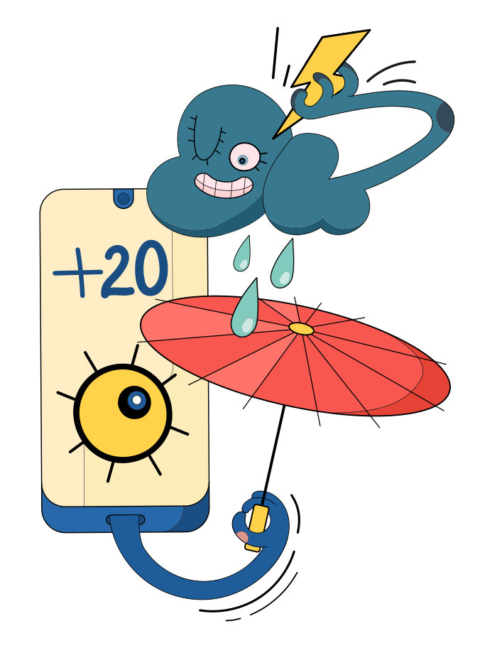 Weather forecast Clipart illustration in PNG, SVG