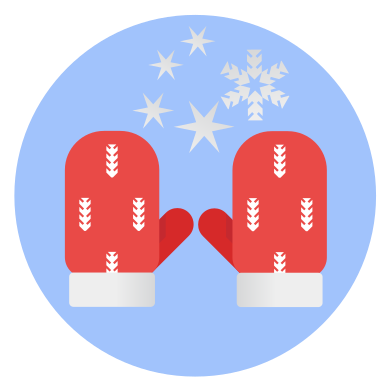 style Christmas winter mittens images in PNG and SVG | Icons8 Illustrations