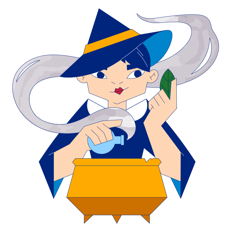 style Witch making potion Vector images in PNG and SVG | Icons8 Illustrations