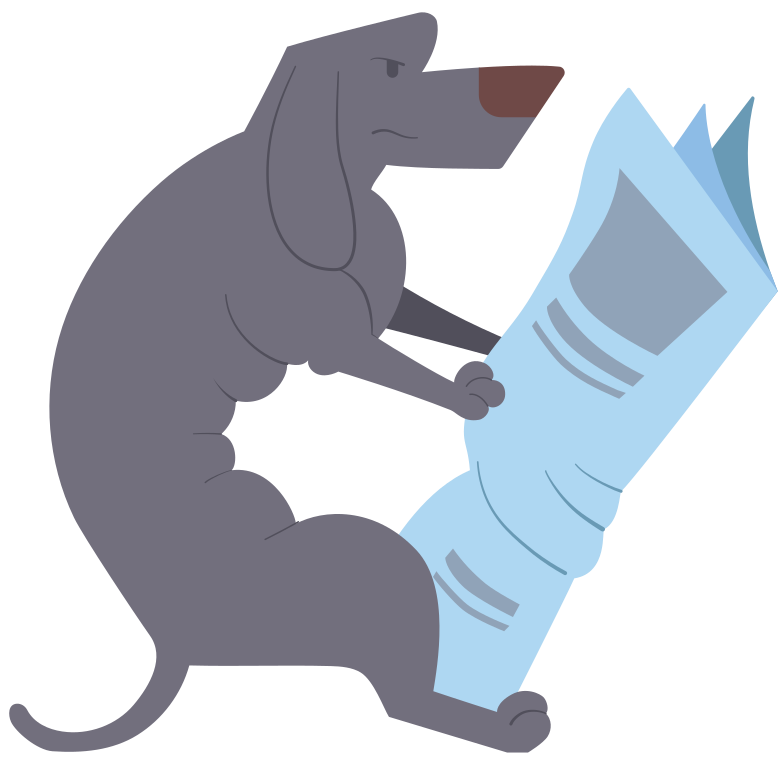 style dachshund gray with newspaper Vector images in PNG and SVG   Icons8 Illustrations