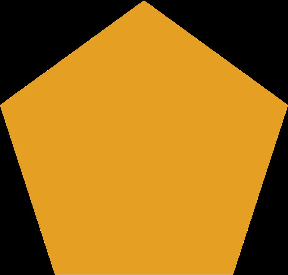 penagon orange Clipart illustration in PNG, SVG