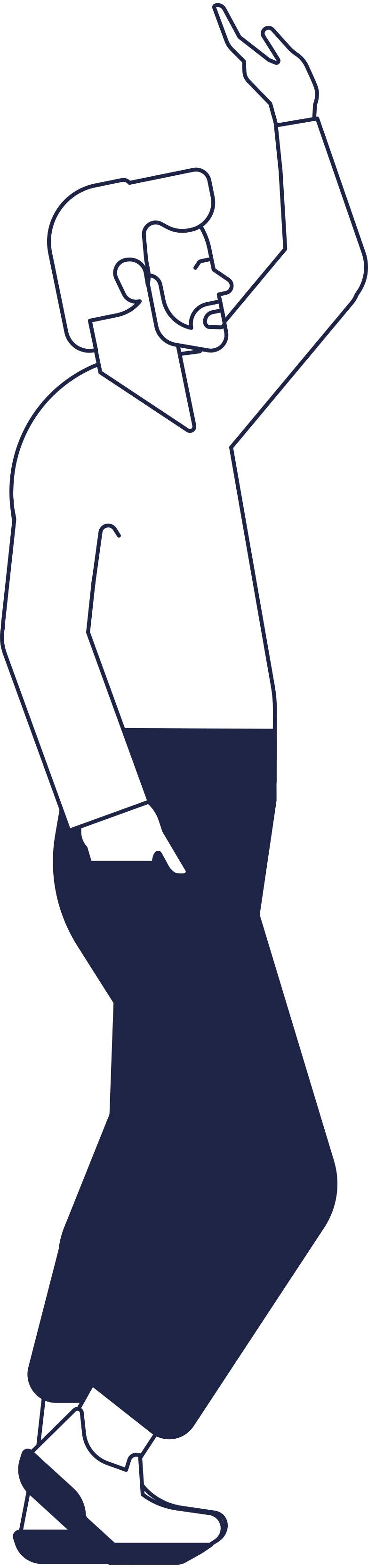 Иллюстрация человек приветствует в стиле  в PNG и SVG | Icons8 Иллюстрации