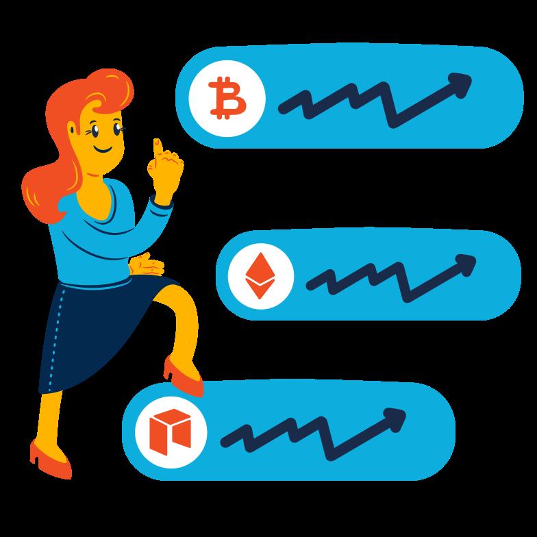 Crypto portfolio Clipart illustration in PNG, SVG