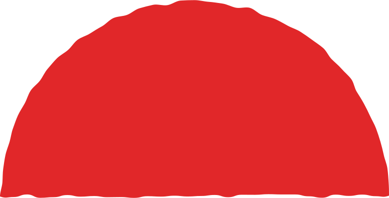semicircle red Clipart illustration in PNG, SVG