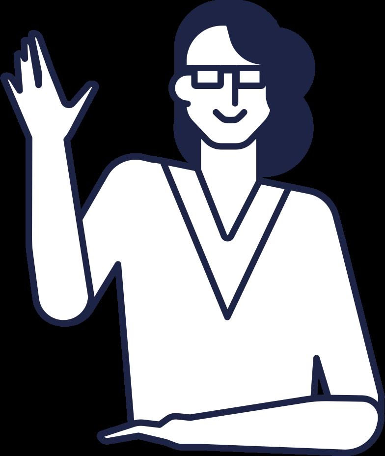 receptionist line Clipart illustration in PNG, SVG