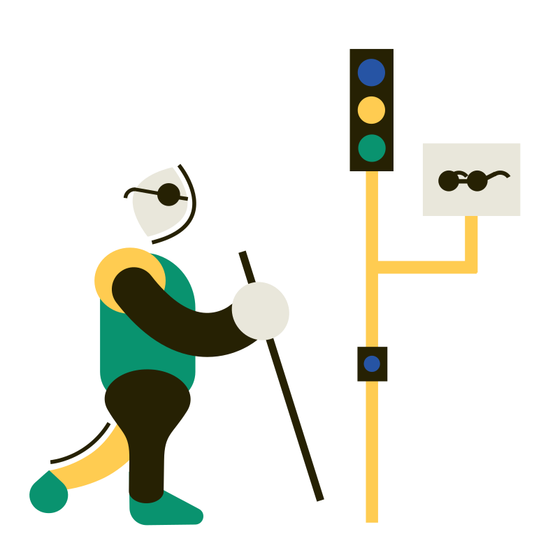 style Traffic light for the blind Vector images in PNG and SVG | Icons8 Illustrations