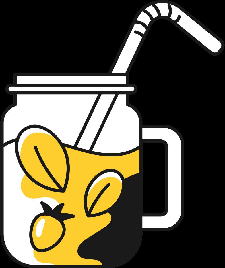 jar of lemonade Clipart illustration in PNG, SVG