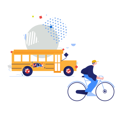 style Public transport or bicycle?  images in PNG and SVG | Icons8 Illustrations
