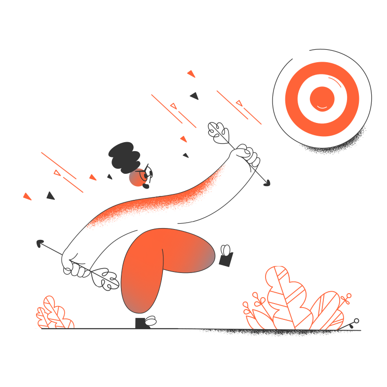 Going to the goal Clipart illustration in PNG, SVG