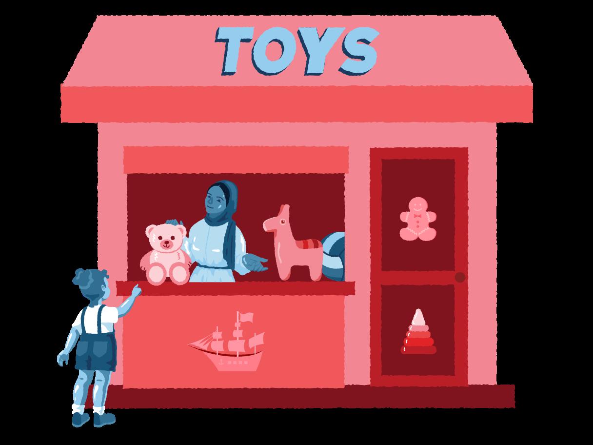 Toys shop Clipart illustration in PNG, SVG