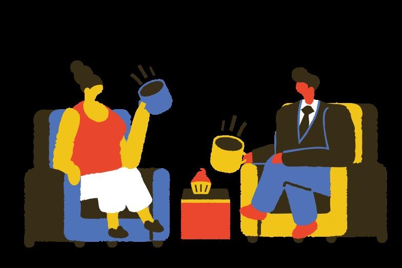 Conversation Clipart illustration in PNG, SVG