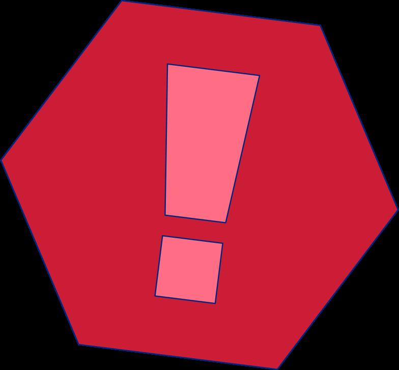 Ausrufezeichen Clipart-Grafik als PNG, SVG