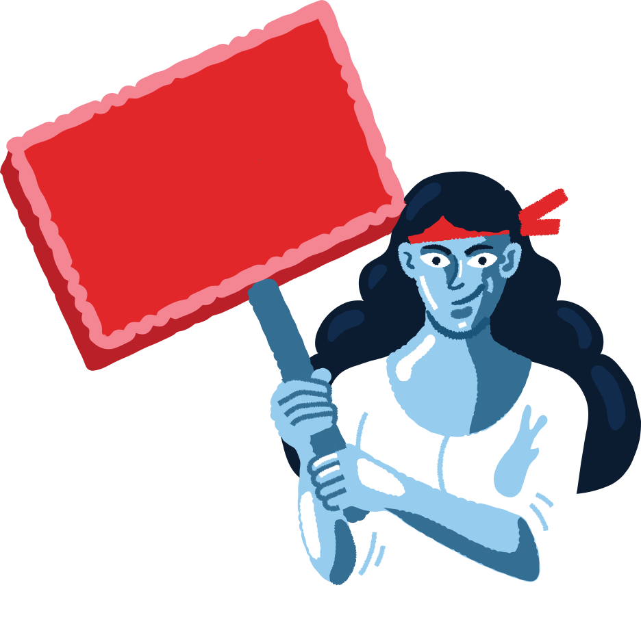 protesting woman Clipart illustration in PNG, SVG