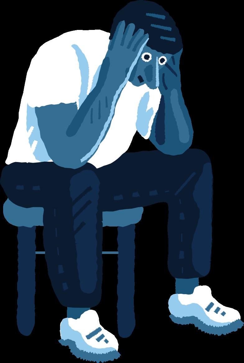 despaired man Clipart illustration in PNG, SVG