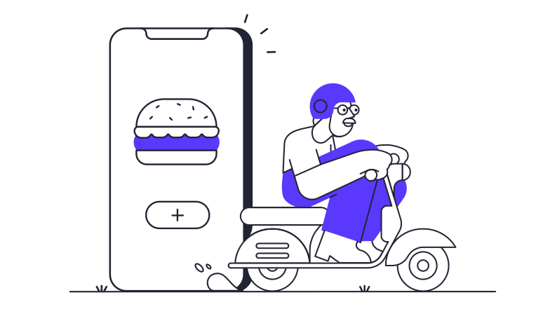 style Food app delivery Vector images in PNG and SVG | Icons8 Illustrations