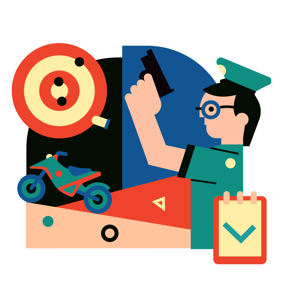 Shooting training Clipart illustration in PNG, SVG