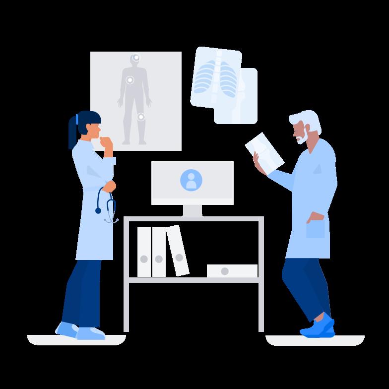 Medical Consultation Online Clipart illustration in PNG, SVG