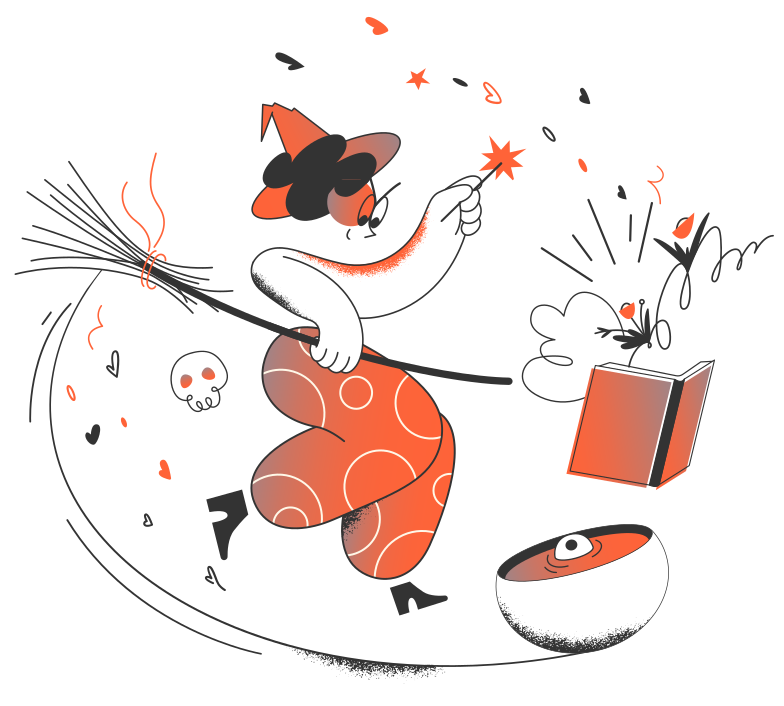 Witch Clipart illustration in PNG, SVG