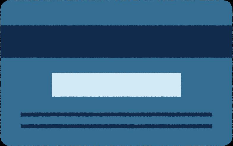 kreditkarte zurück Clipart-Grafik als PNG, SVG