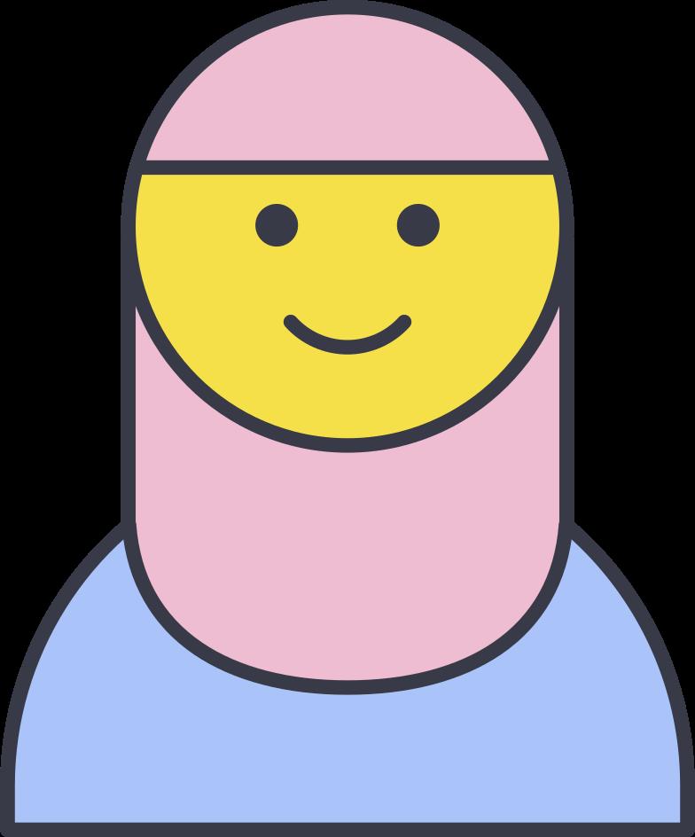 hijab girl Clipart illustration in PNG, SVG