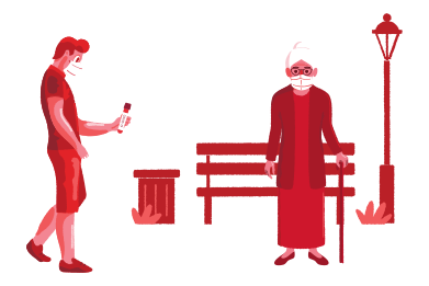 style COVID-19 especially dangerous for the elderly images in PNG and SVG | Icons8 Illustrations