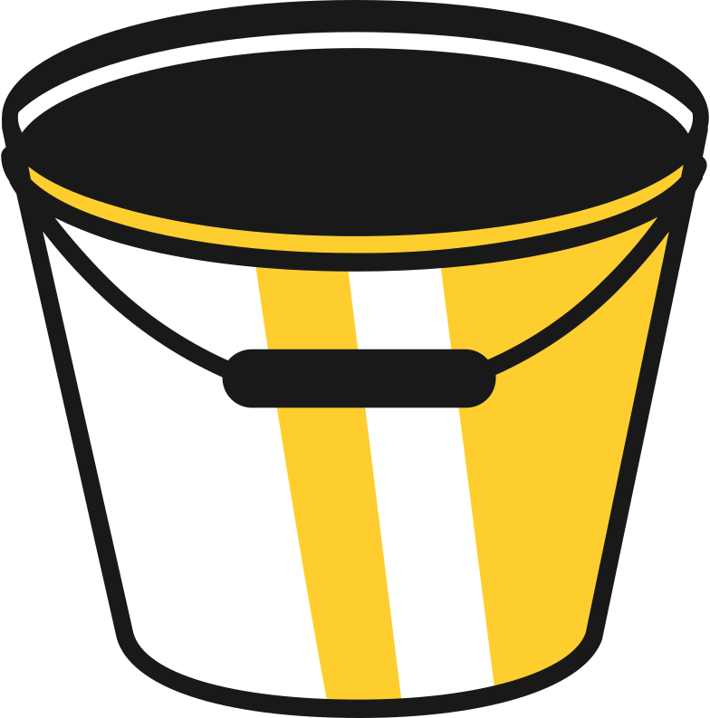 empty bucket Clipart illustration in PNG, SVG