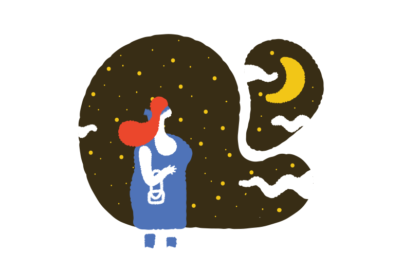 Starry night Clipart illustration in PNG, SVG
