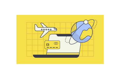 style Online flight booking  images in PNG and SVG | Icons8 Illustrations