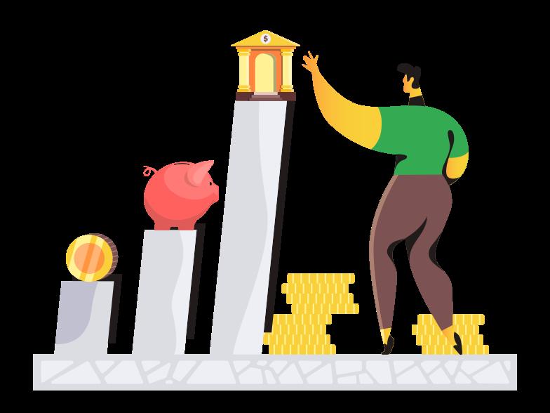 Клипарт Финансовый рост в PNG и SVG