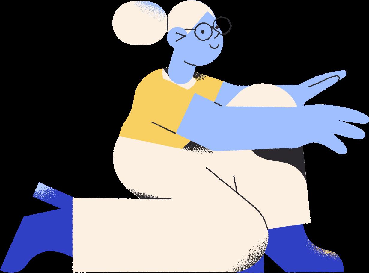 Illustration clipart Femme sur genou aux formats PNG, SVG