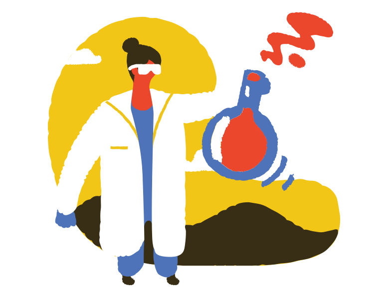 Vaccine is ready! Clipart illustration in PNG, SVG