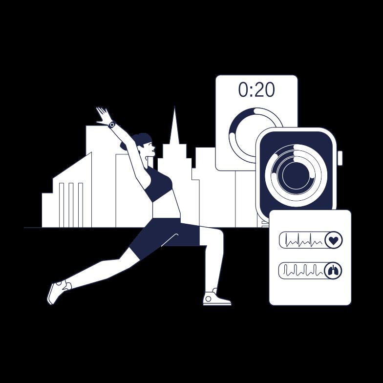 Smart Yoga Clipart illustration in PNG, SVG