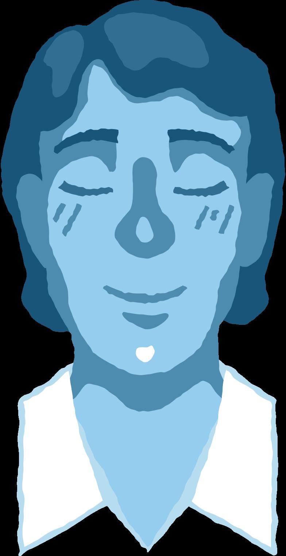 男は平和な頭 のPNG、SVGクリップアートイラスト