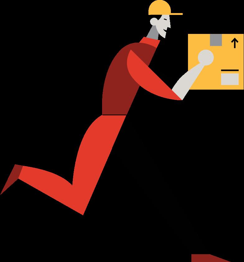 delivery-man Clipart illustration in PNG, SVG