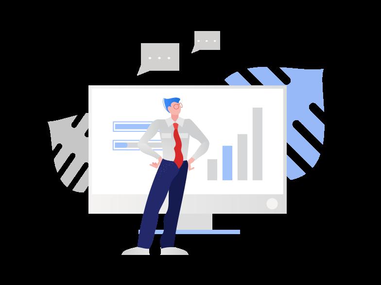 Businessman work  Clipart illustration in PNG, SVG