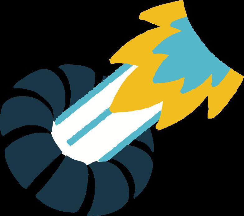 rocket blast Clipart illustration in PNG, SVG