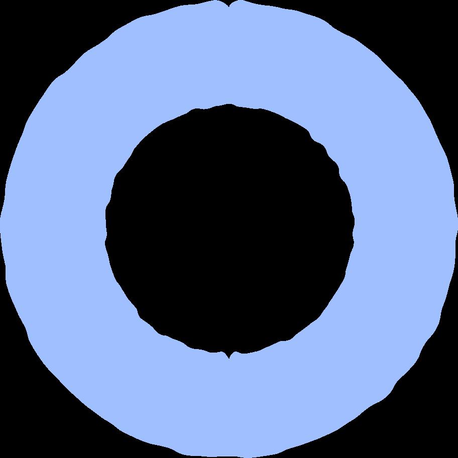 ring light blue Clipart illustration in PNG, SVG