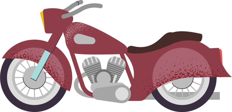 motorcycle Clipart illustration in PNG, SVG