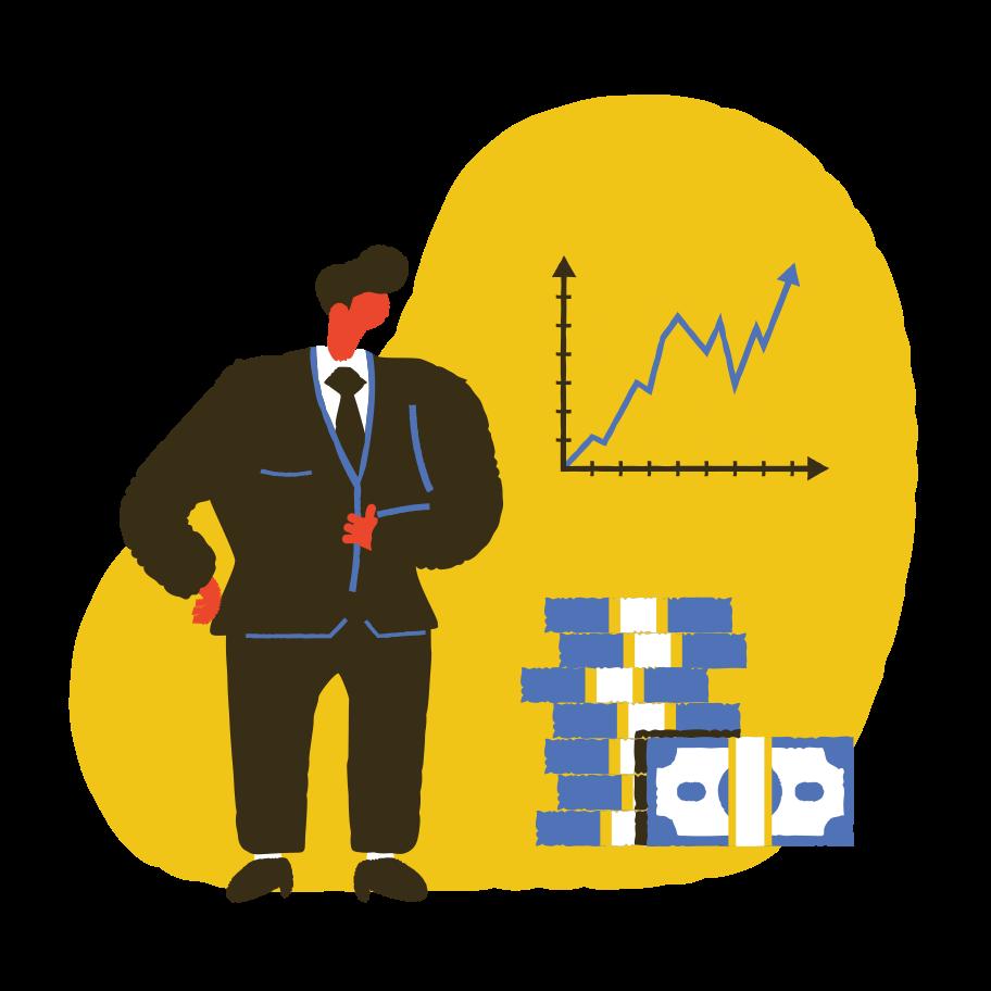 Illustration clipart La réussite des entreprises aux formats PNG, SVG