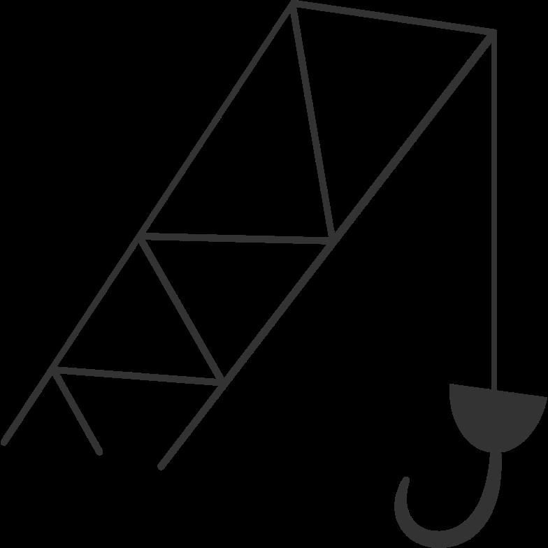 elevating crane Clipart illustration in PNG, SVG