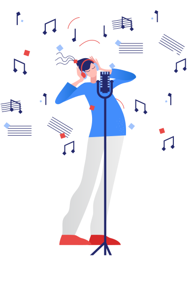 style Recording the song images in PNG and SVG | Icons8 Illustrations