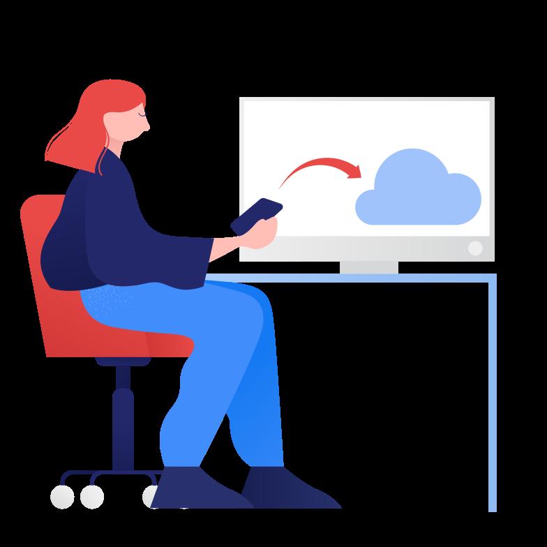 Клипарт Cloud upload в PNG и SVG