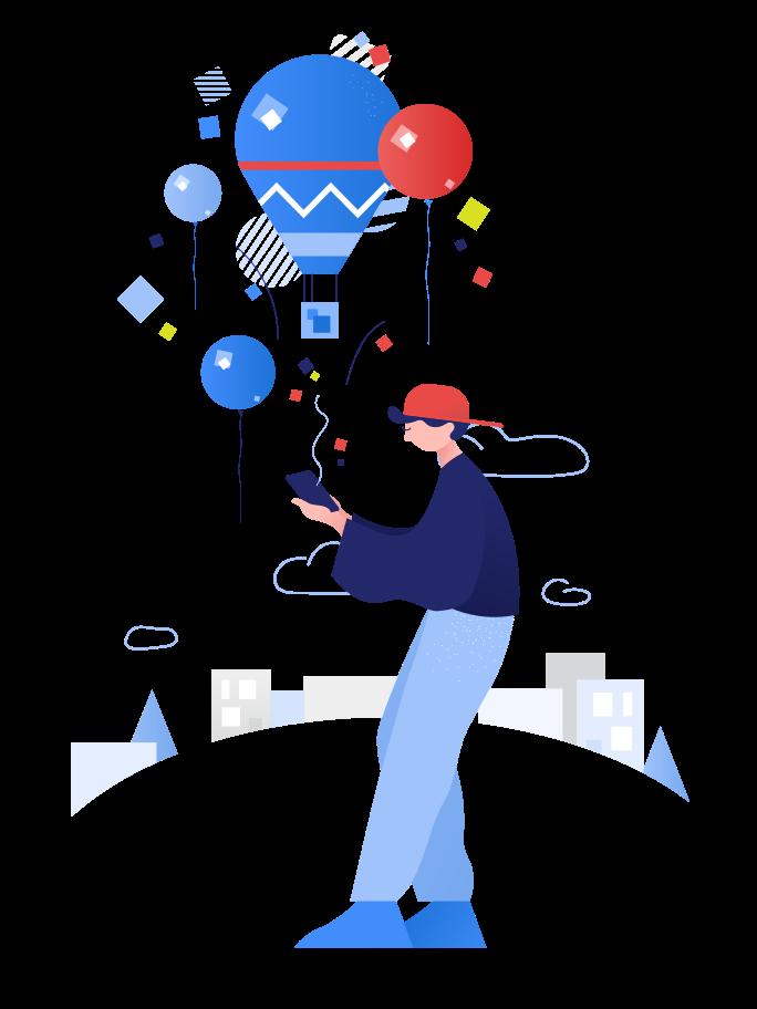 Choosing travel Clipart illustration in PNG, SVG