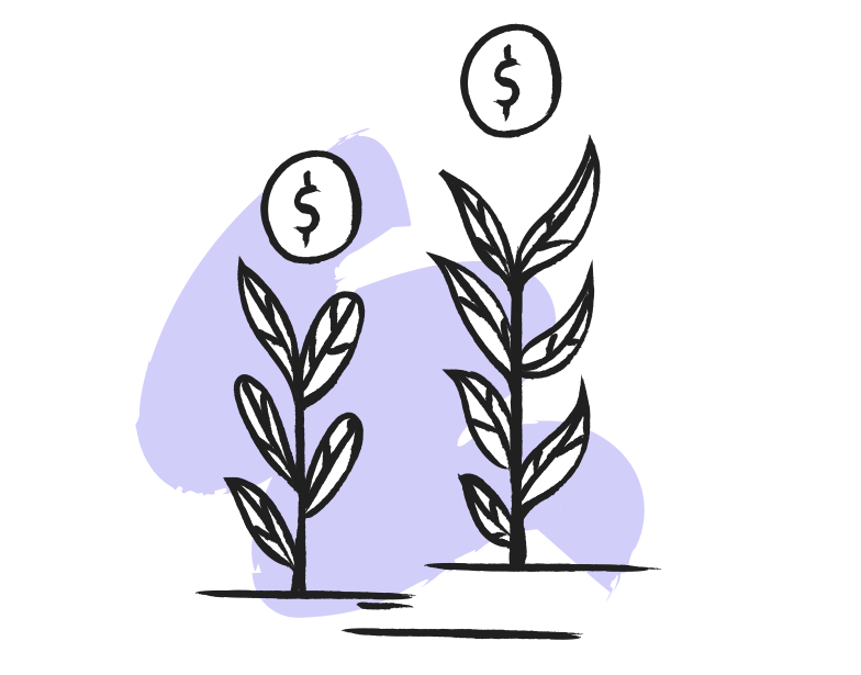 Grow your money Clipart illustration in PNG, SVG