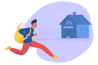 style Late for school images in PNG and SVG | Icons8 Illustrations