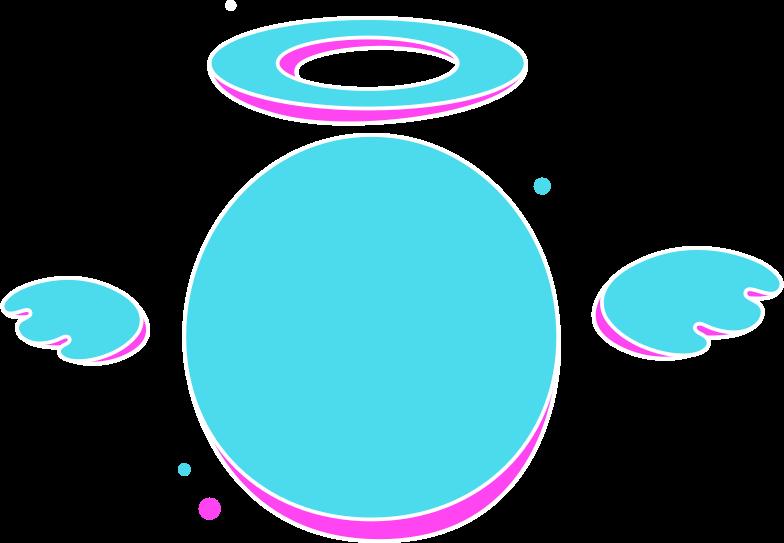 rg blue angel Clipart illustration in PNG, SVG
